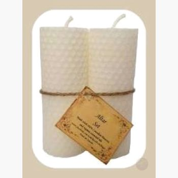 White Altar Candle Set Candles Mystical Moons