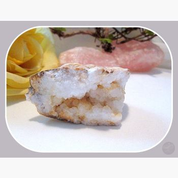 White Quartz Geode - Ooak 375Ct Crystal Mystical Moons