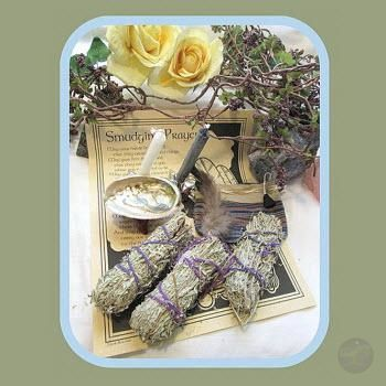 White Sage Smudge Me Set Kits Mystical Moons