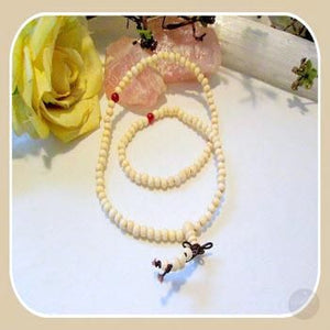 White Sandalwood 108 Meditation Mala Mystical Moons