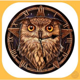 Wise One Wall Clock - Design By Lisa Parker Clocks Mystical Moons