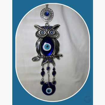 Wise Owl Evil Eye Hanging Mystical Moons