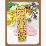Wise Owl Totem Handcarved Bamboo Bookmark Mystical Moons