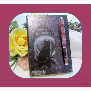 Witches Spell With Pen Journal Mystical Moons