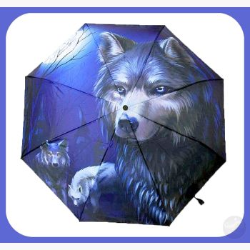 Wolf Umbrella Mystical Moons