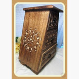 Wooden Celtic Cupboard Mystical Moons