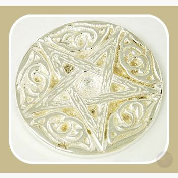 Woodland Pentagram Altar Tile Mystical Moons