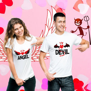 T Bhai - Angel Devil Couple T-Shirt