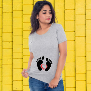 T Bhai - Baby Footprints T-Shirt for Women