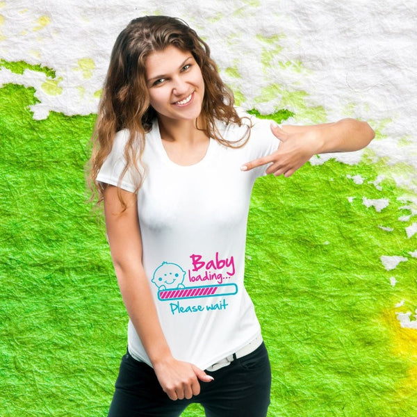 T Bhai - Baby Loading Please Wait Maternity T-Shirt for Women