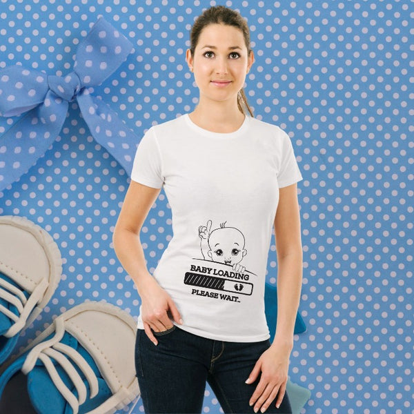 T Bhai - Baby Loading Please Wait T-Shirt for Women
