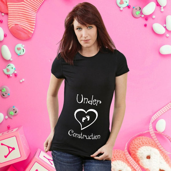 T Bhai - Baby Under Construction T-Shirt for Women