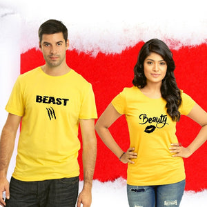 T Bhai - Beauty and the Beast Couple T-Shirt