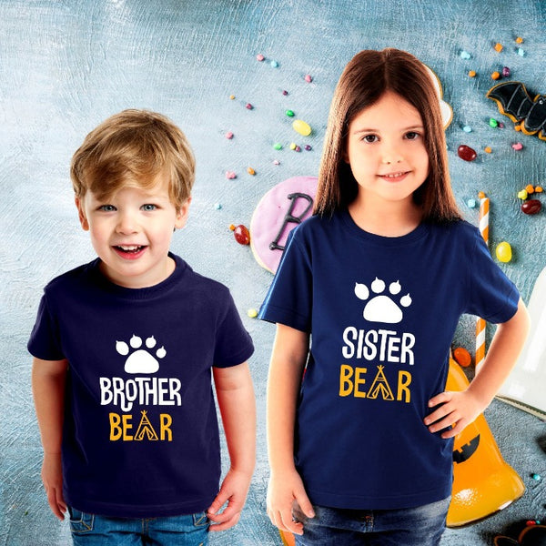 Brother Bear Sister Bear Matching Brother Sister Combo T-Shirts