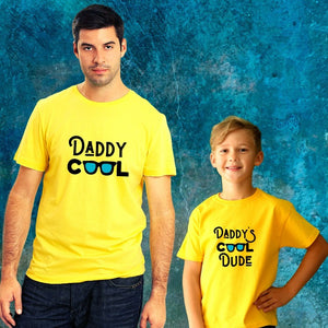 T Bhai - Daddy Cool and Daddy's Cool Dude Matching Father & Son T-Shirt