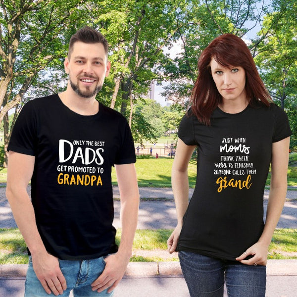 T Bhai - Grandpa and Grandma Baby Announcement T-Shirt