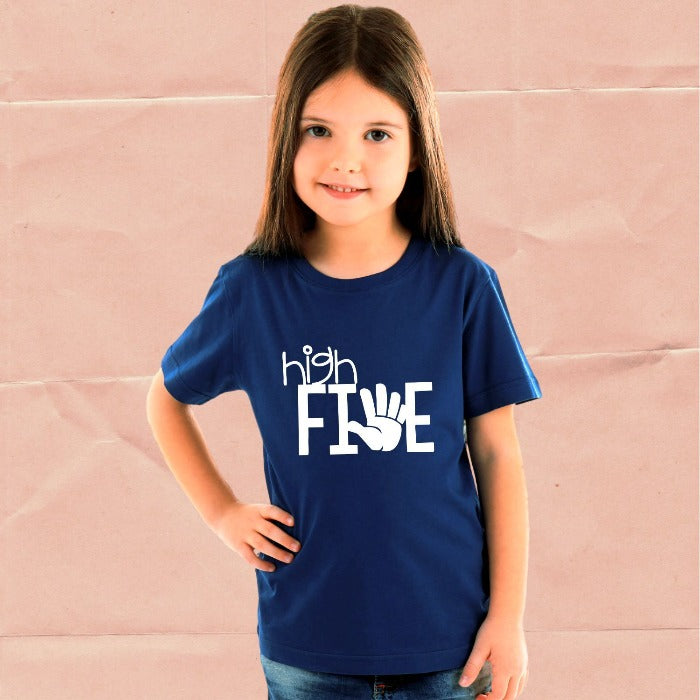 High Five Fifth Birthday T-Shirt for Kids