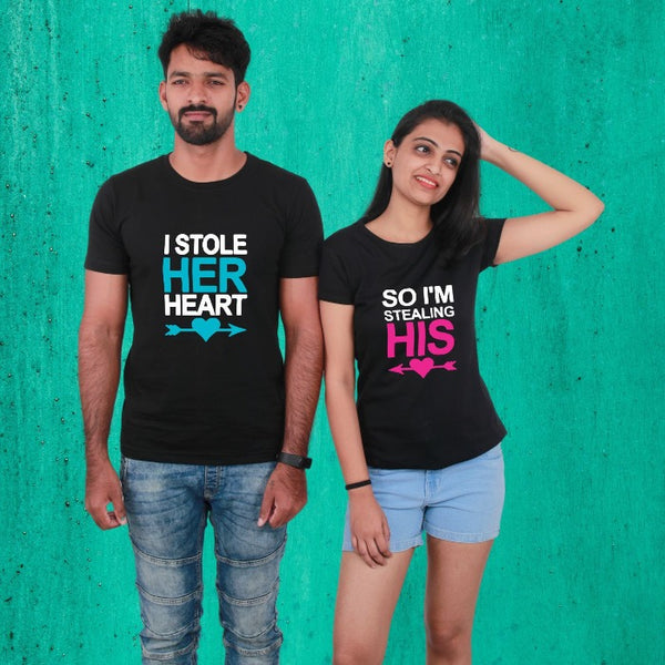 I Stole Her Heart Couple T-Shirt
