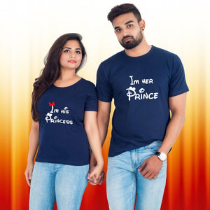 T Bhai - I'm Her Prince I'm His Princess Couple T-Shirt