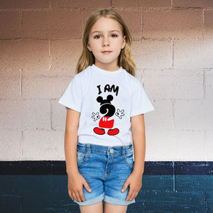 I am 2 Mickey Mouse Theme Second Birthday T-Shirt for Kids