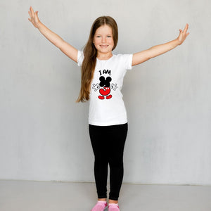 I am 3 Mickey Mouse Theme Third Birthday T-Shirt for Kids