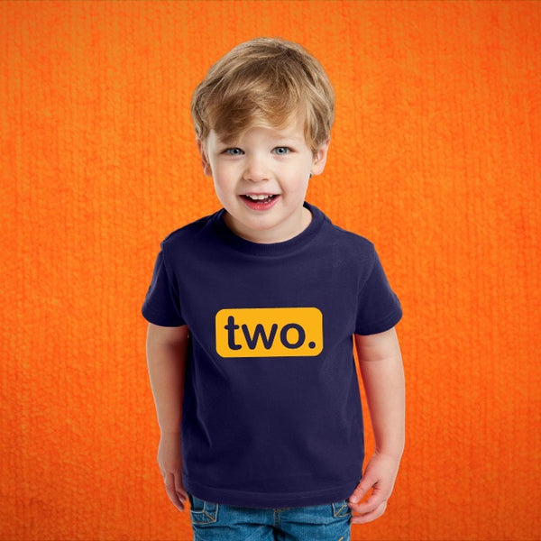 T Bhai - I am Turning Two - 2nd Birthday T-Shirt for Kids