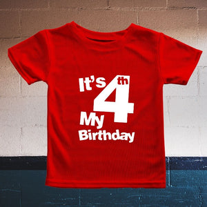 It's my Fourth Birthday T-Shirt for Kids