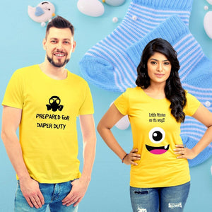T Bhai - Little Minion on its Way Couple T-Shirt