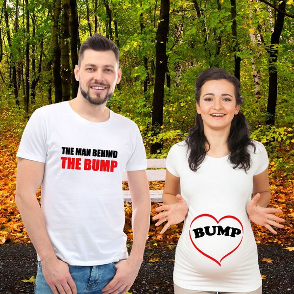 T Bhai - Man Behind the Bump Couple T-Shirt
