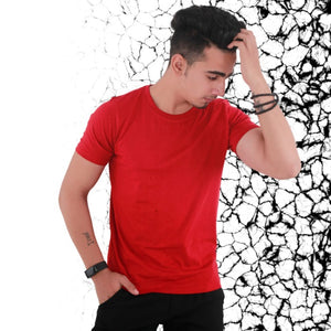 T Bhai - Men's Plain T-Shirt Red