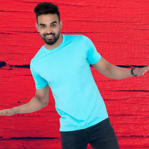 T Bhai - Men's Plain T-Shirt Turquoise