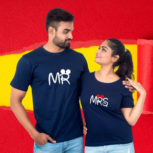 T Bhai - Mr & Mrs Couple T-Shirt