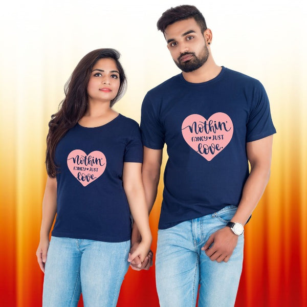 T Bhai - Nothing Fancy Just Love Couple T-Shirt