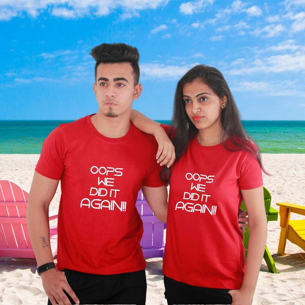 T Bhai - Oops We Did it Again Pregnancy Photo Shoot Combo T-Shirts