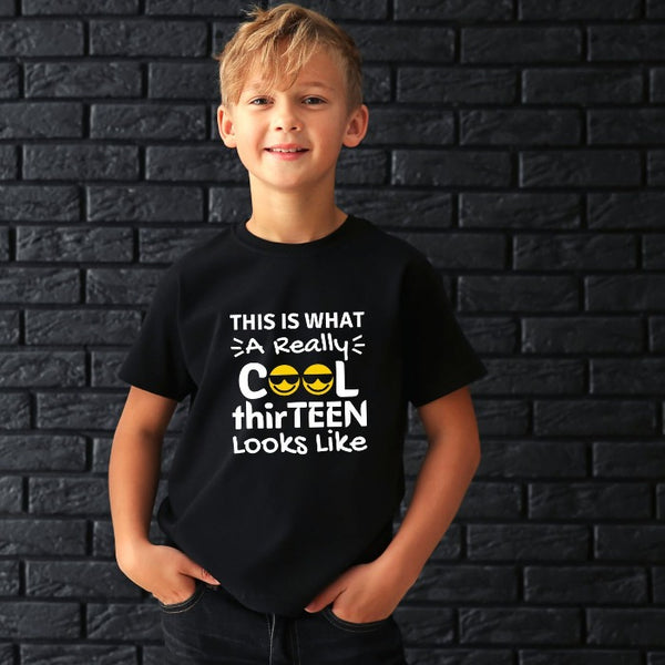 Really Cool Thirteen Teenager T-Shirt for Kids
