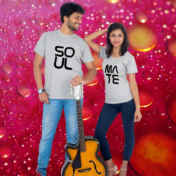 T Bhai - Soul Mate Heart Couple T-Shirt
