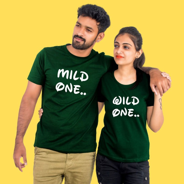 T Bhai - Wild One Mild One Couple T-Shirt