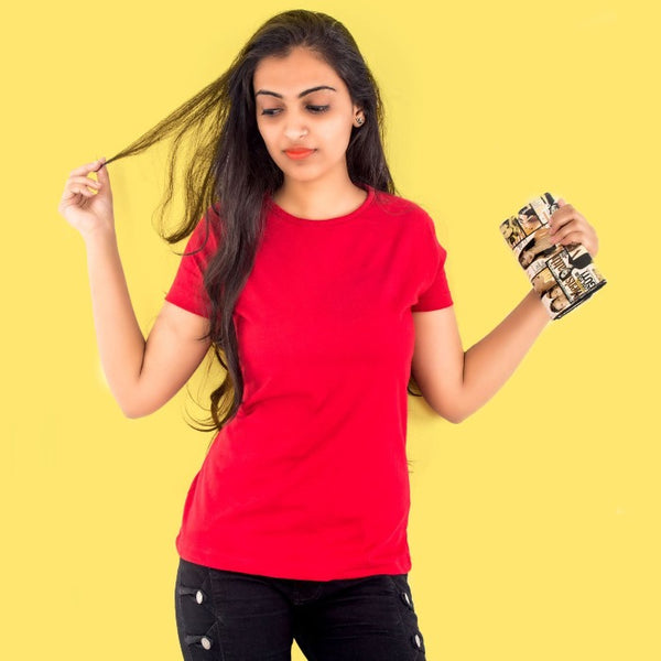 T Bhai - Women's Plain T-Shirt Red