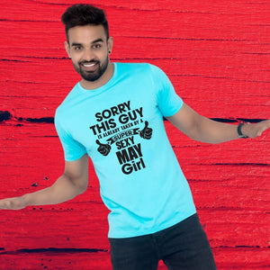T Bhai - Zodiac Signs Guy Taken by a Custom Month Girl T-Shirt for Men