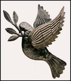 "Metal Dove Wall Decor - Christian Gift Idea - Recycled Steel Drum Art from Haiti - 10"" x 12"""