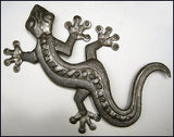 Steel Gecko Wall Hanging - Handcrafted Home Decor - Tropical Garden Art - 36""