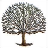 Tree Metal Wall Hanging, Metal Garden Art, Haitian Metal Art, Tree of Life, Haitian Steel Oil Drum Art - 34""