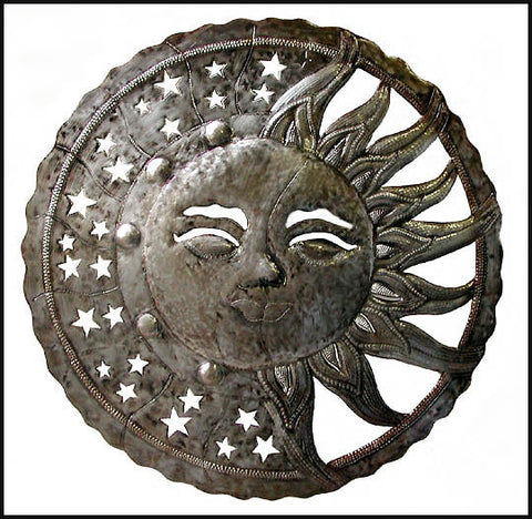 Sun And Moon Wall Decor suns & moons - metal art – haiti gallery