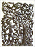 "Haitian Steel Drum Art, Apple Tree, Metal Wall Decor, Haitian Art, Recycled Steel Drum Art, 17"" x 24"""
