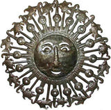 Sun Metal Wall Hanging  - Haitian Metal Art, Handcrafted Steel Drum Art -  24""