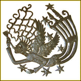 Haitian Angel Metal Wall Art - Recycled Steel Oil Drum of Haiti - Wall Hanging - 24""