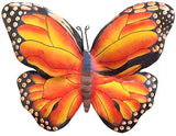 "Butterfly Wall Decor - Monarch Butterfly - Decorative Painted Metal Butterflies - 12"" x 14"""