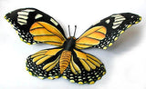 "Monarch Butterfly Metal Wall Hanging - Hand Painted Garden Decor - Tropical Home Decor - 16"" x 34"""