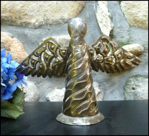 "Voltive Candle Holder - Hammered Metal Design - Holiday Decorating - 7 1/2"" Hign"