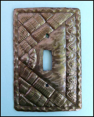 Light Switch Plate Cover -Switchplate Covers -  Decorative Haitian Steel Oil Drum Art - Single